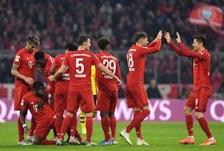 Bundesliga: il Bayern a valanga sul Dortmund, nel segno di Lewandowski