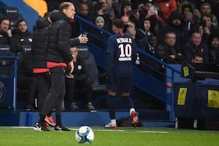 PSG, Neymar copia Cristiano Ronaldo: esce dal campo infuriato per la sostituzione