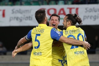 Serie B, il Chievo batte l'Entella 2-1 e vola al terzo posto