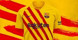 Barcellona, la nuova maglia è ispirata alla Senyera: la bandiera catalana