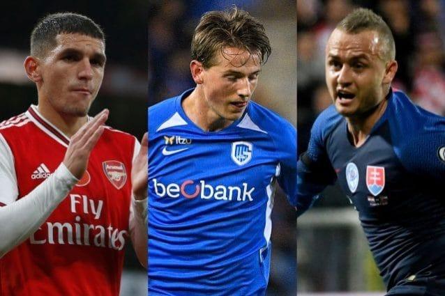 Da sinistra Lucas Torreira (Arsenal), Sander Berge (Genk) e Stanislav Lobotka (Celta Vigo)