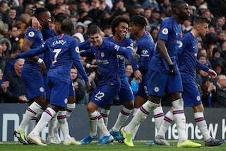 Premier, Abraham e Pulisic regalano il secondo posto al Chelsea. Pari per il Tottenham