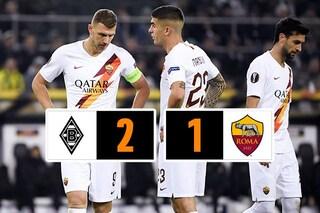 Europa League, Borussia Mönchengladbach-Roma 2-1: Thuram gela i giallorossi nel recupero