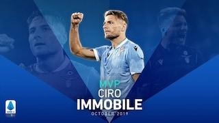 Serie A, Ciro Immobile vince il premio MVP di ottobre 2019