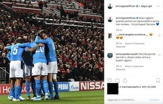 """Liverpool-Napoli, Insigne su Instagram si congratula con i compagni: """"Bravi ragazzi"""""""