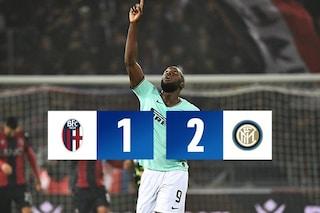 Ci pensa Lukaku: al 92' sbanca Bologna su rigore, Inter di nuovo prima in classifica