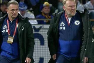 Robert Prosinečki col pancione, l'ex calciatore oggi ct della Bosnia è irriconoscibile