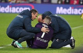 Fiorentina, infortunio per Ribery nell'anticipo con il Lecce: le condizioni del francese