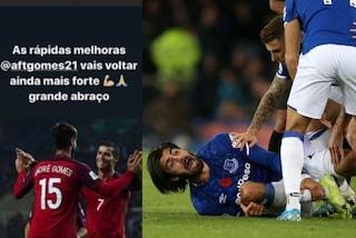 """Il messaggio di Cristiano Ronaldo ad André Gomes: """"Tornerai più forte di prima"""""""