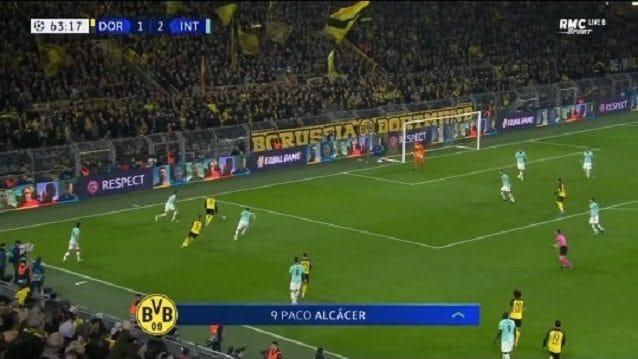 Sull'errore di Brozovic, l'Inter è piazzata male e Brandt si può inserire nello spazio vuoto alle spalle del centrocampista