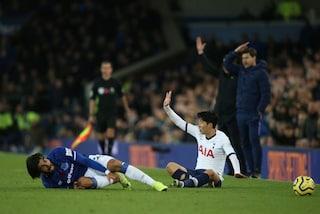 Tottenham, revocato il rosso a Son per il fallo su André Gomes