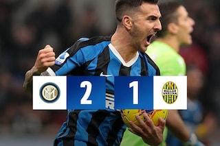 Vecino e Barella ribaltano il Verona: Inter di rimonta, da 0-1 a 2-1