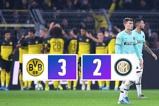 L'Inter si illude, Hakimi e Brandt firmano la rimonta per il Borussia: finisce 3-2