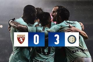 L'Inter risponde alla Juventus: 3-0 al Torino nel segno di Lautaro, de Vrij e Lukaku