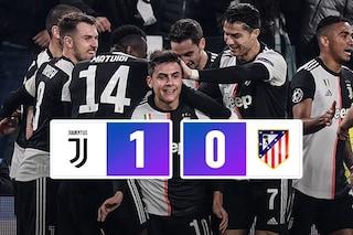 Champions, Dybala è una sentenza: la Juve batte l'Atletico e passa come prima del girone