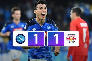 Champions League, Lozano risponde ad Haaland: il Napoli pareggia con il Salisburgo