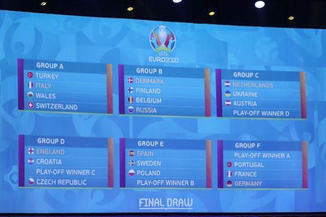 Euro 2020 Italia Nel Gruppo A Con Svizzera Turchia E Galles