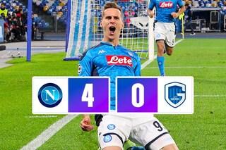 Champions, il Napoli vince 4-0 con il Genk e passa agli ottavi come seconda del girone