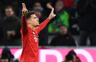 Bundesliga, Coutinho show e il Bayern torna a vincere: 6-1 al Werder. Poker Dortmund