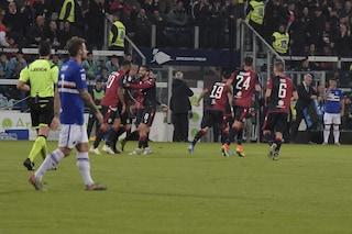 Cagliari-Sampdoria 4-3, Cerri nel recupero regala il quarto posto a Maran