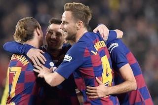 Il Barcellona travolge il Maiorca e spaventa l'Inter: show del gol di Messi e Suarez