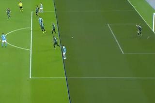Moviola Napoli-Bologna: gol annullato a Lozano in fuorigioco, Olsen gol regolare