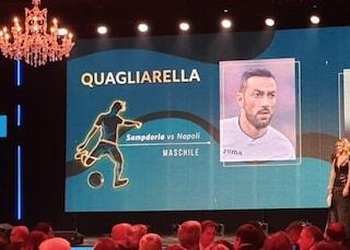 Quagliarella vince premio per miglior gol al Gran Galà Aic