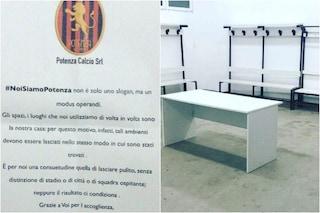Il Potenza perde a Bari ma pulisce lo spogliatoio dello stadio San Nicola