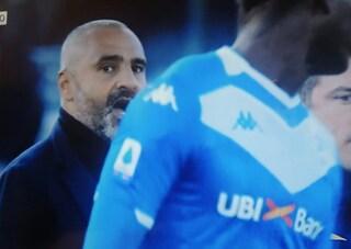 """Brescia-Lecce, Balotelli litiga con Liverani. Il tecnico: """"Non ho mai preso buu razzisti"""""""