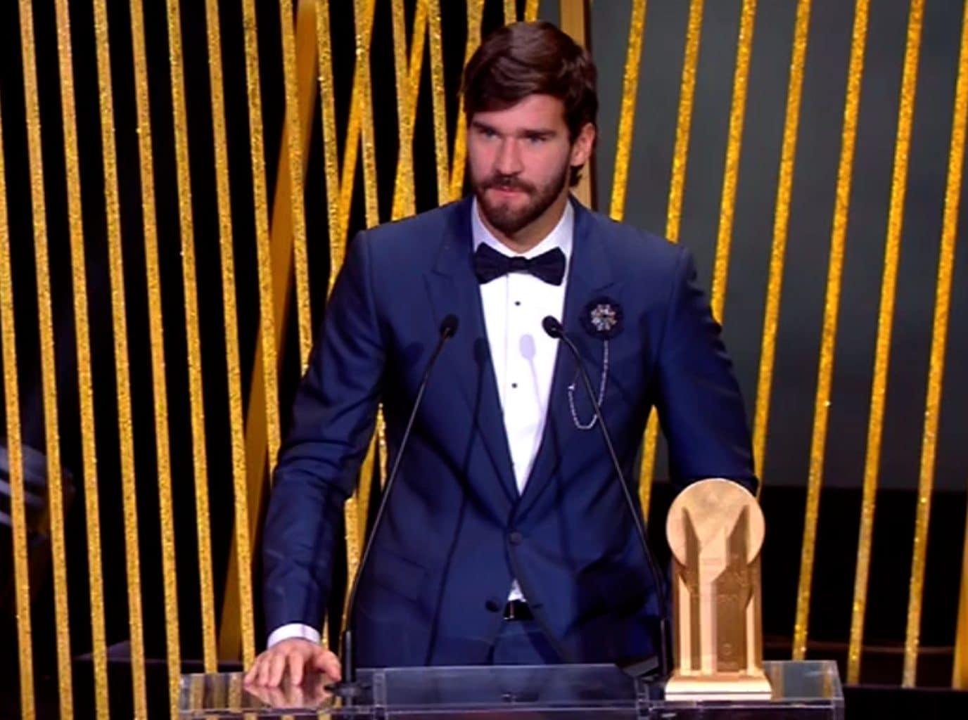 Alisson ha vinto il Premio Jascin.