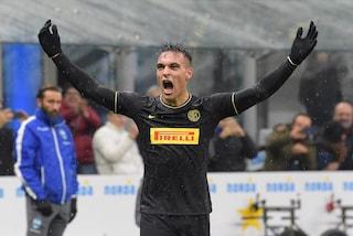 E' sempre Lautaro show: l'Inter batte 2-1 la Spal e la doppietta del 'Toro' vale la vetta