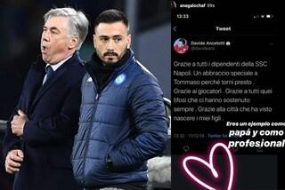 """Napoli, Davide Ancelotti: """"Grazie alla città che ha visto nascere i miei figli"""""""