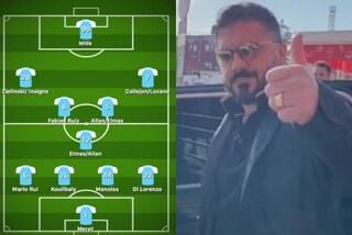 Come giocherà il Napoli con Gattuso: sarà 4-3-3 con Insigne e nuovo ruolo per Zielinski