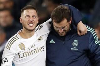 Real Madrid, senza Hazard per il 'Clasico' contro il Barcellona: belga ancora in stampelle