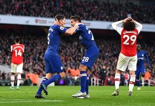 Arsenal-Chelsea 1-2, derby deciso dai gol di Jorginho e Abraham