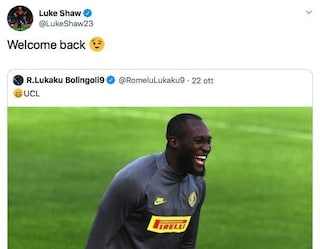 "L'Inter retrocede in Europa League, Shaw prende in giro Lukaku: ""Bentornato"""