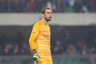 Roma, infortunio per Pau Lopez: il portiere salta l'anticipo con l'Inter. Out anche Dzeko