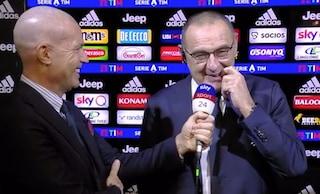 """Juventus, Sarri sorride amaro al gol di Lautaro: """"Non mi portate belle notizie"""""""