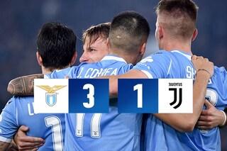 Cristiano non basta, la Juve cade all'Olimpico: 3-1 da una Lazio formato Champions