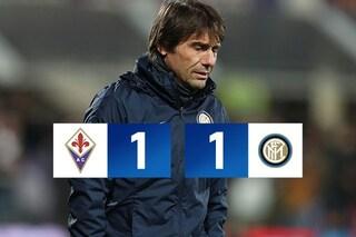 Serie A, Fiorentina-Inter: 1-1, Vlahovic frena la corsa dell'Inter al 90'