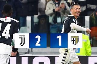 Cristiano Ronaldo lancia la Juventus in fuga: Parma battuto 2-1 allo Stadium