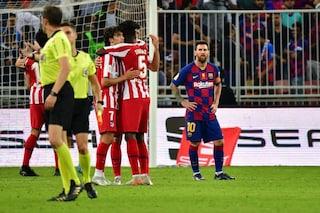 Barcellona-Atletico Madrid 2-3, Simeone in finale di Supercoppa di Spagna contro il Real