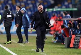 """Napoli, Gattuso: """"Ci siamo detti le cose in faccia ed è uscito il veleno"""""""