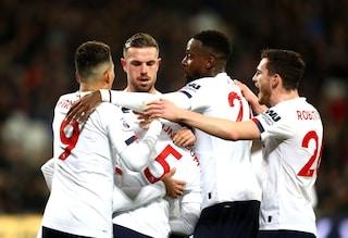 West Ham-Liverpool 0-2, i Reds hanno battuto tutte le squadre della Premier. Più 19 sul City