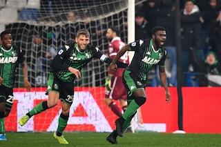Sassuolo-Torino Serie A finisce 2-1: Boga e Berardi ribaltano l'autogol di Locatelli