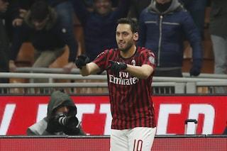 """Milan, Calhanoglu: """"Ibrahimovic? È un leone e ci fa lavorare anche dopo l'allenamento"""""""