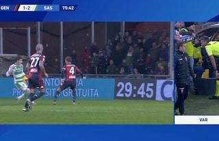 Moviola Genoa-Sassuolo, perché è stato annullato il gol di Djuricic
