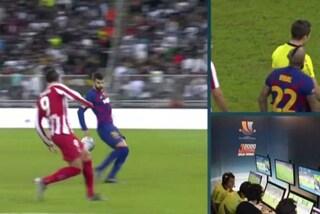 Moviola Barcellona-Atletico, Var protagonista: due gol annullati e un rigore non concesso