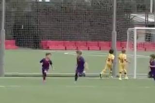 Thiago Messi dà spettacolo, gran gol per il figlio di Leo