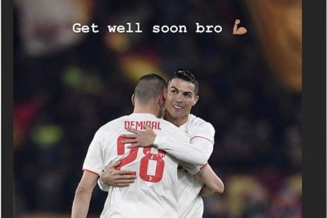 Il post su Instagram di Ronaldo per Demiral